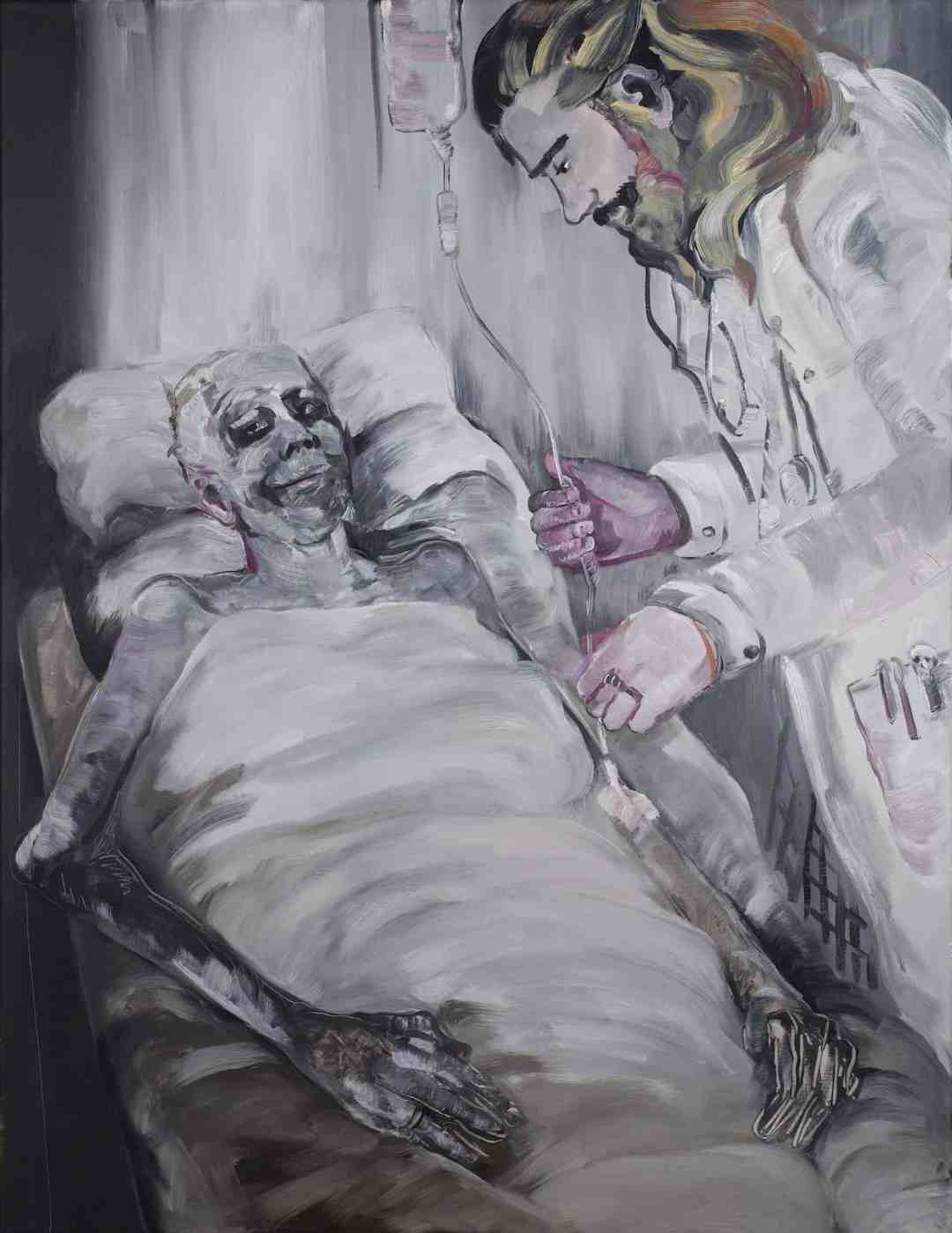 Pola Dwurnik, December, oil on canvas, 116x89cm