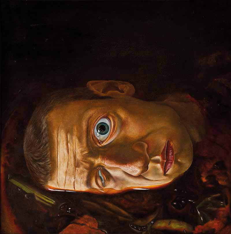 Šarūnas Sauka, Selfportrait No. 4, 1985