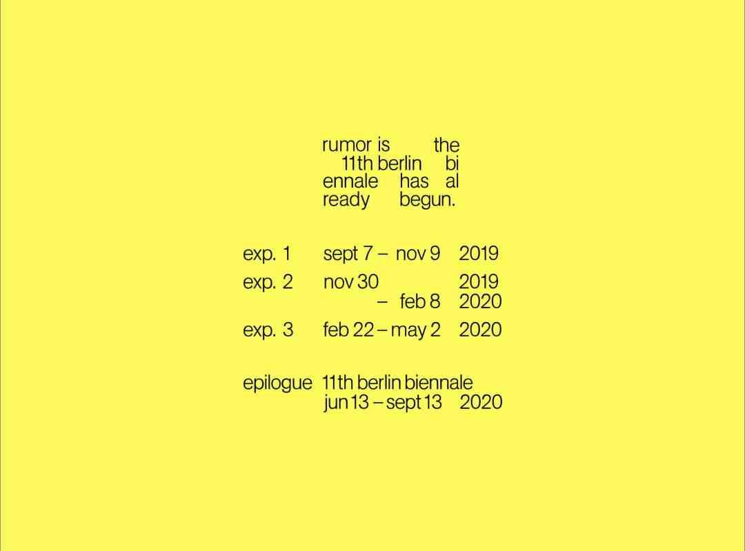 11th Berlin Biennale
