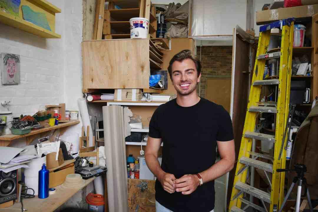 Piotr Krzymowski in his studio, June 2019, photo Roma Piotrowska
