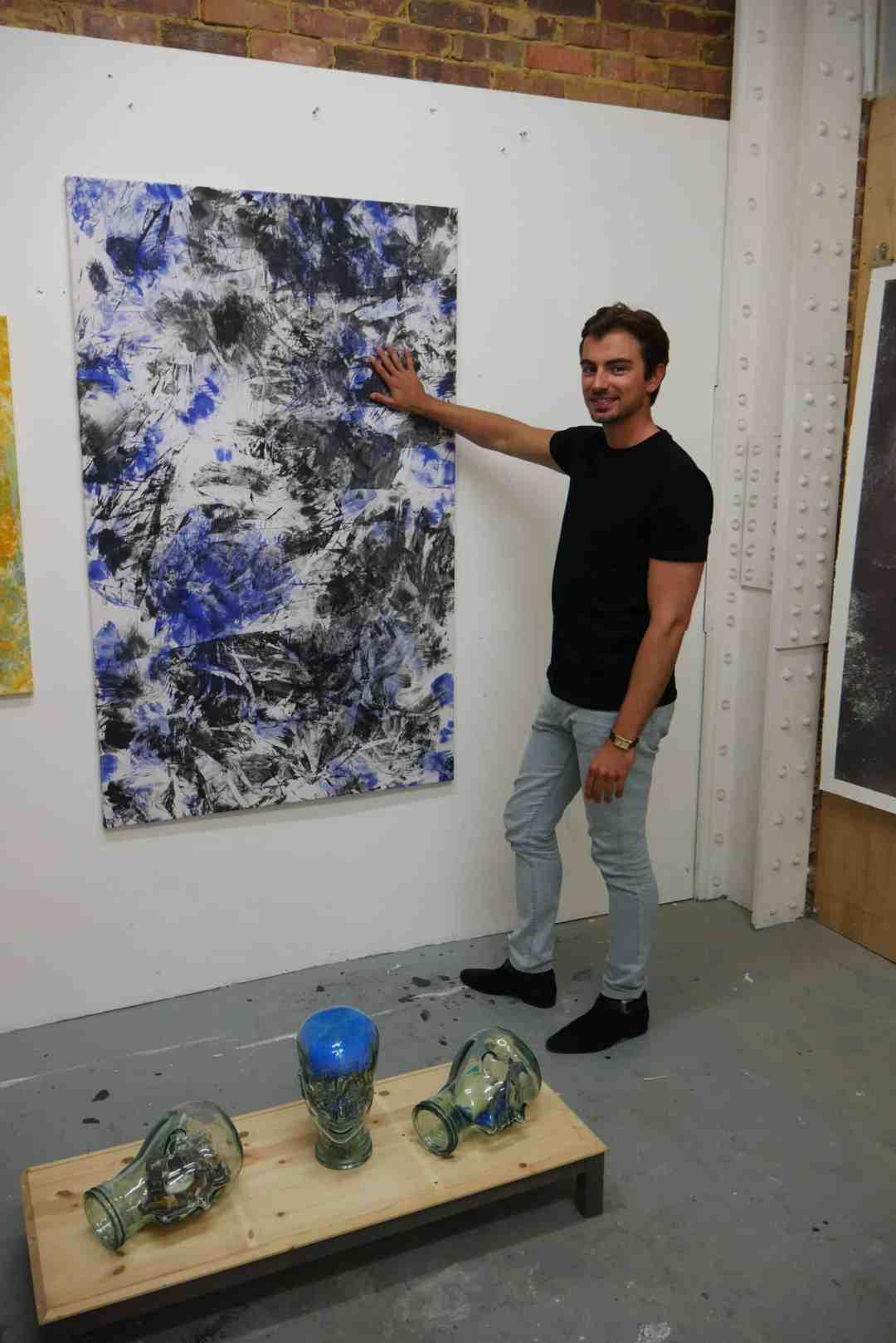 Piotr KRzymowski in his studio, June 2019, photo: Roma Piotrowska