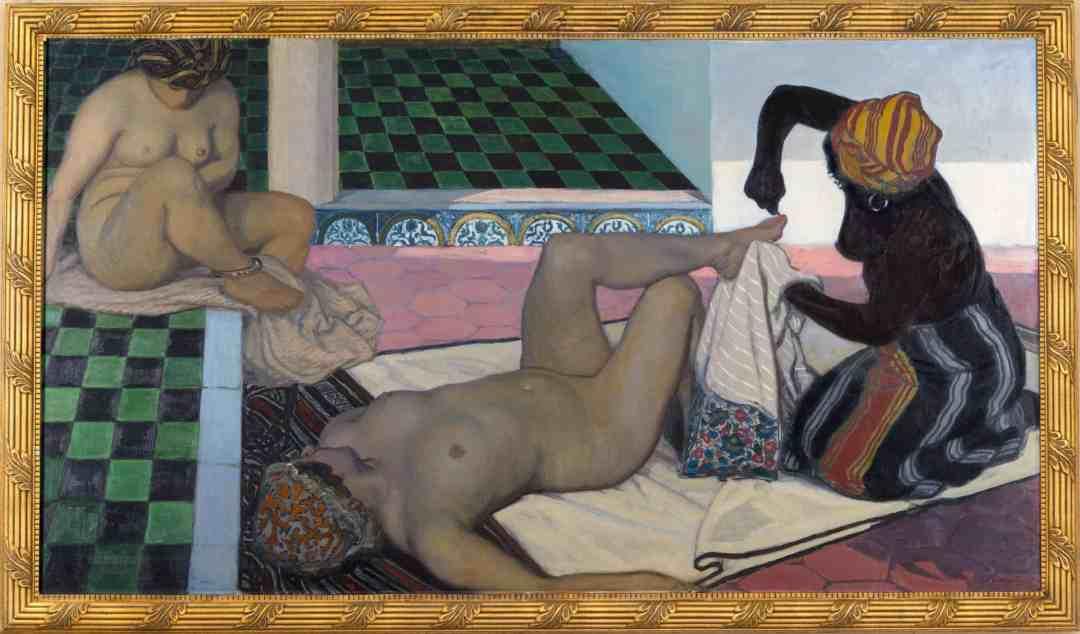 Jules Migonney, Le Bain maure, 1911, Öl auf Leinwand, 104 x 188 cm, Musée du monastère royal de Brou, Bourg-en-Bresse, Foto: Carine Monfray