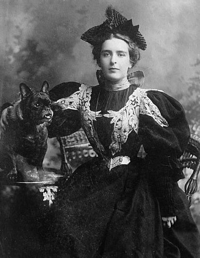Natalie Clifford Barney with a pet dog, Source: Library of Congress