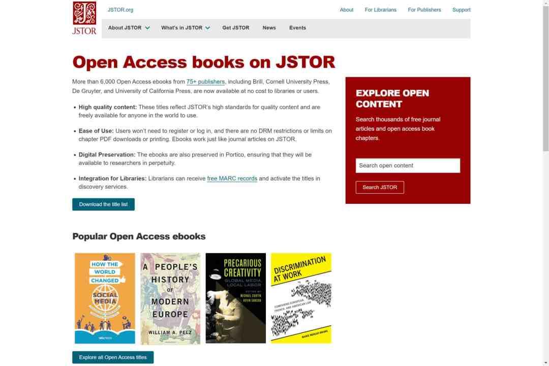 Screenshot of the website Jstore