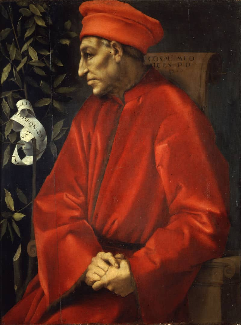 Pontormo, Portrait of Cosimo de' Medici the Elder, between circa 1518 and circa 1520, Collection: Uffizi Museum