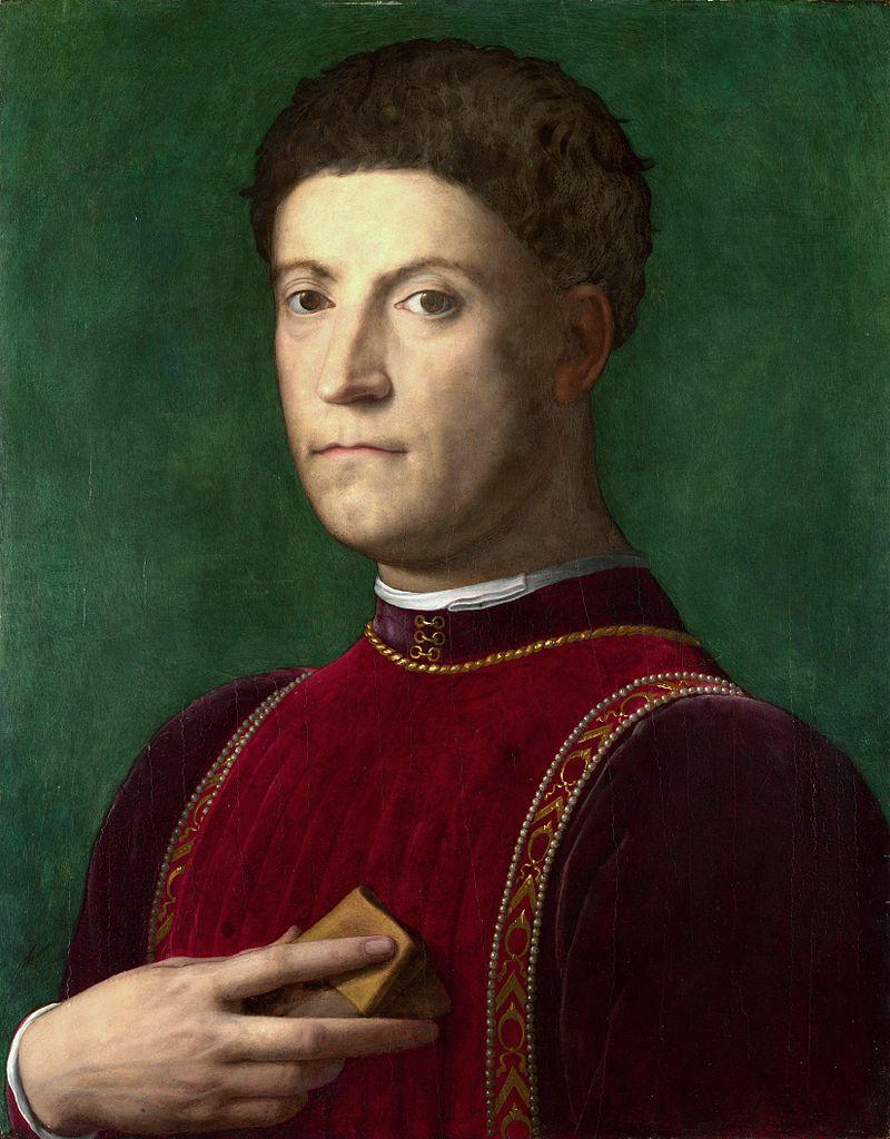 Agnolo Bronzino, Portrait of Piero de' Medici, between circa 1550 and circa 1570, oil on panel, collection: National Gallery