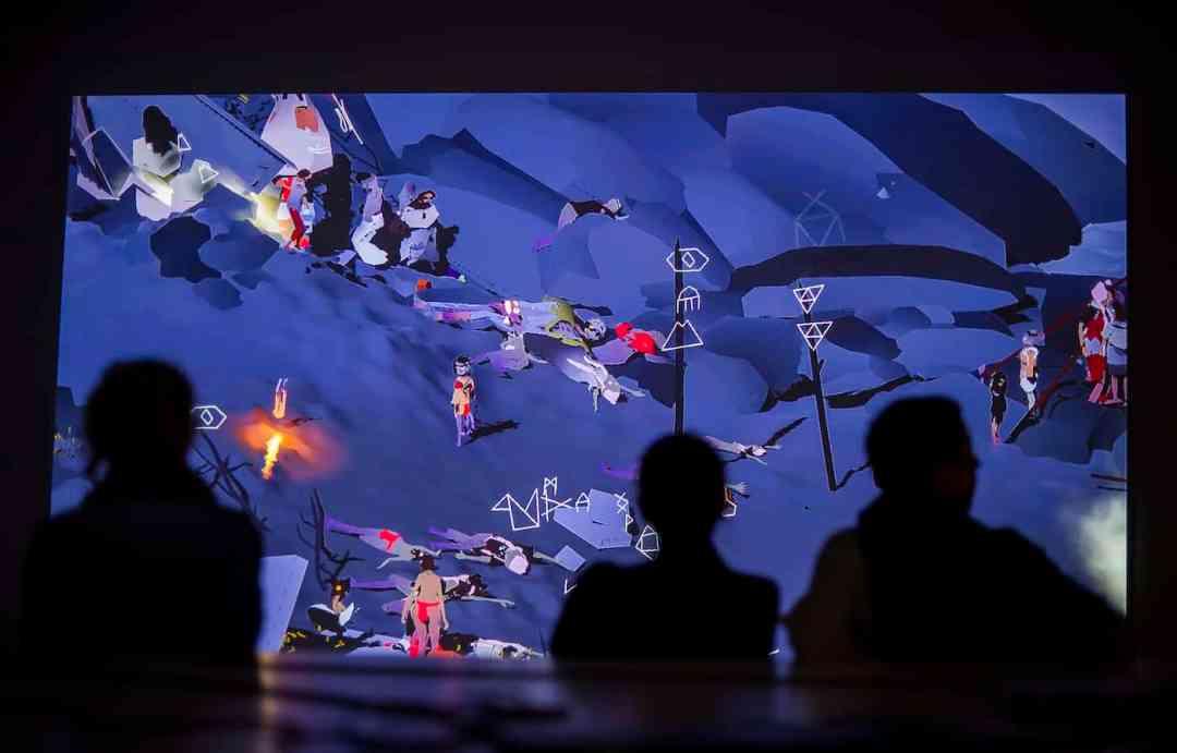 Installation view of Ian Cheng's Emissaries, curated by Hans Ulrich Obrist, Fondazione Sandretto Re Rebaudengo, Turin, Courtesy Fondazione Sandretto Re Rebaudengo