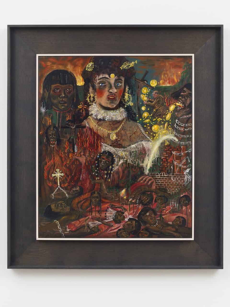 Jakub Julian Ziółkowski, Liberate Te Ex Infernis, 2017, 68 x 57 cm, oil on panel, courtesy of the artist