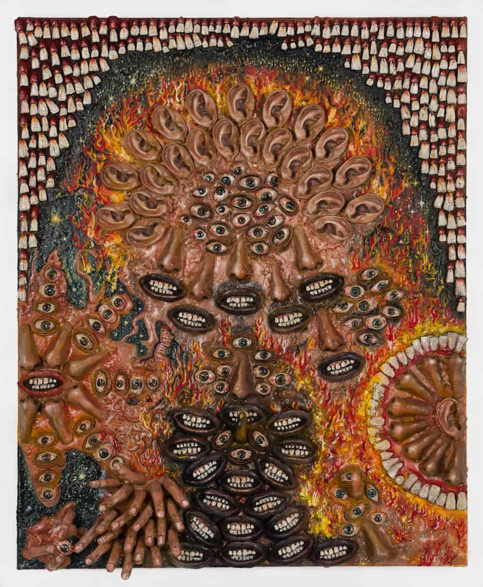 "Jakub Julian Ziółkowski ""Krauser"", 2019, 82x66 cm, oil and mixed media on canvas"