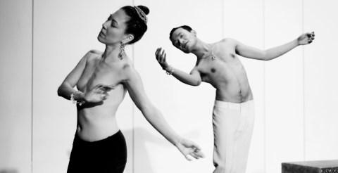 Prumsodun Ok and Joyce Lu in performance