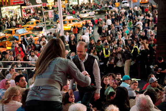 Performance, Liz Magic Laser, Times Square, Duffy Square, NY