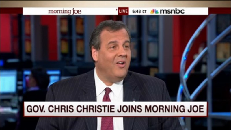 Joe Scarborough Goes Out Of His Way To Kiss Chris Christie's Ass During Softball Interview