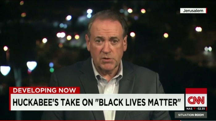 Mike Huckabee Helpfully Whitesplains How MLK Would Feel About #BlackLivesMatter