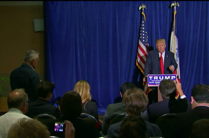 """Go Back To Univision!"" Trump's Racist Fans Celebrate After He Boots Jorge Ramos From Presser"