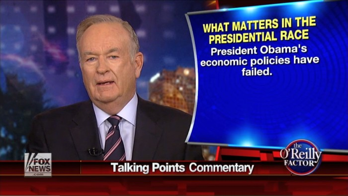 Bill O'Reilly: Liberal Media Using Ben Carson's Comments To Distract From Obama's Economic Record