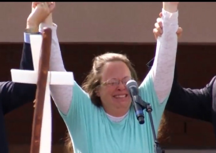 Survivor Is None Too Pleased With Huckabee For Using 'Eye Of The Tiger' During Kim Davis Rally