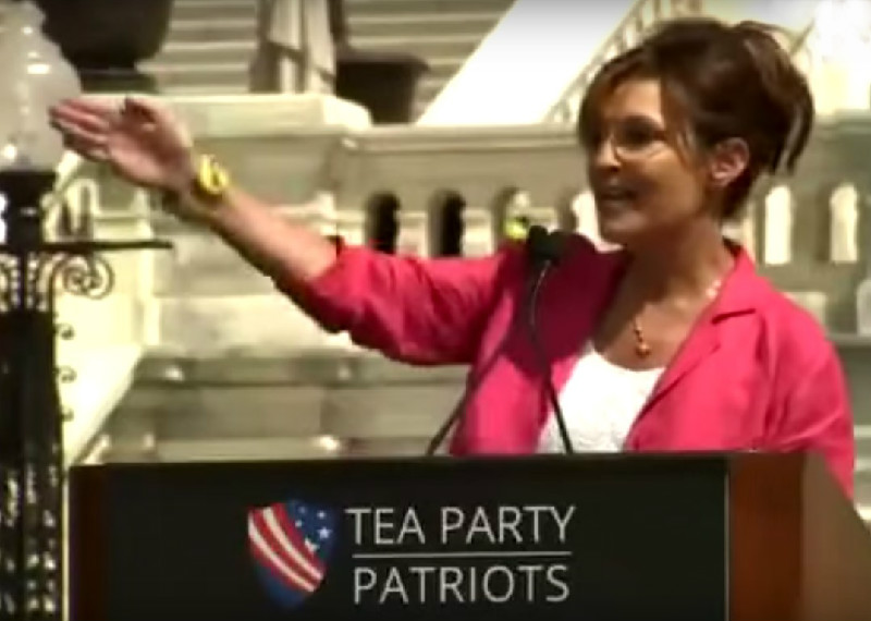"Did Sarah Palin Just Call #BlackLivesMatter Protesters ""Dogs"" At Tea Party Rally? You Betcha!"