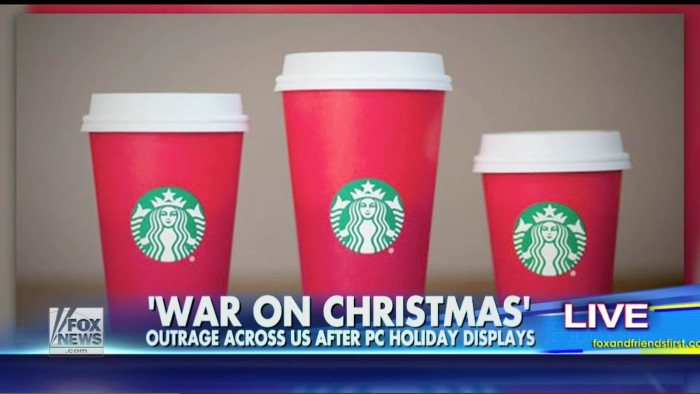 citing starbucks red cups fox news claims the war on christmas is off to an early start - The War On Christmas