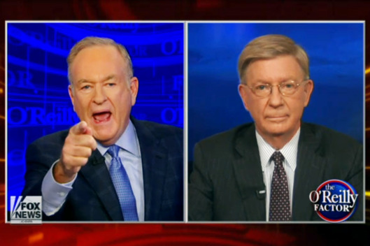 "Continuing Their Feud, George Will Says Bill O'Reilly ""Pollutes"" And ""Makes A Mess Of History"""