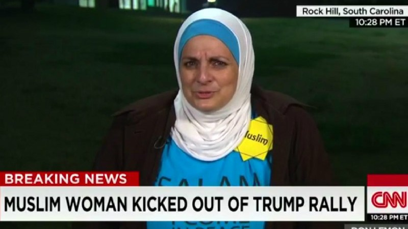 """Trump Supporters Yell """"You Have A Bomb"""" At Muslim Woman During Campaign Rally"""