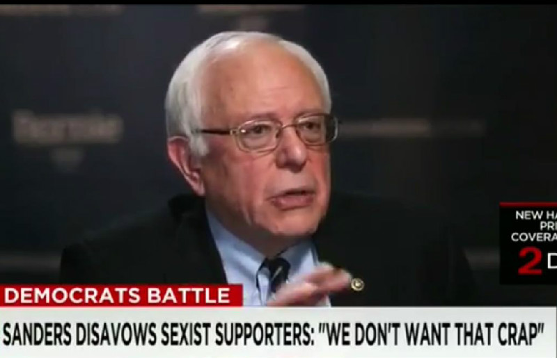 "Sanders Tells His Sexist 'Bernie Bros' To Get Lost: ""We Don't Want That Crap"""