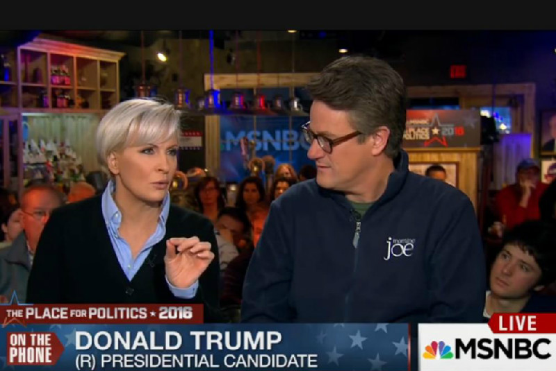 'Morning Joe' Hosts Hung Out With Donald Trump While NH Primary Results Came In