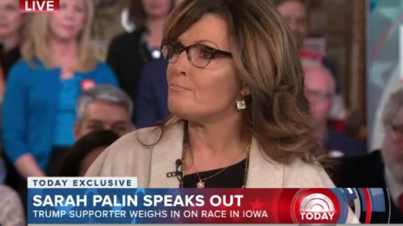 Sarah Palin Does Her Best Sarah Palin Impression While Playing Victim During TODAY Interview