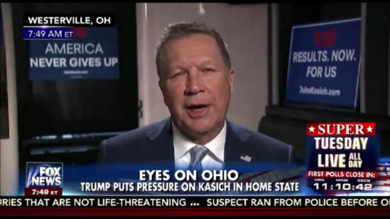 "John Kasich To Fox News: ""There's No Way I Would Team Up With Donald Trump"""