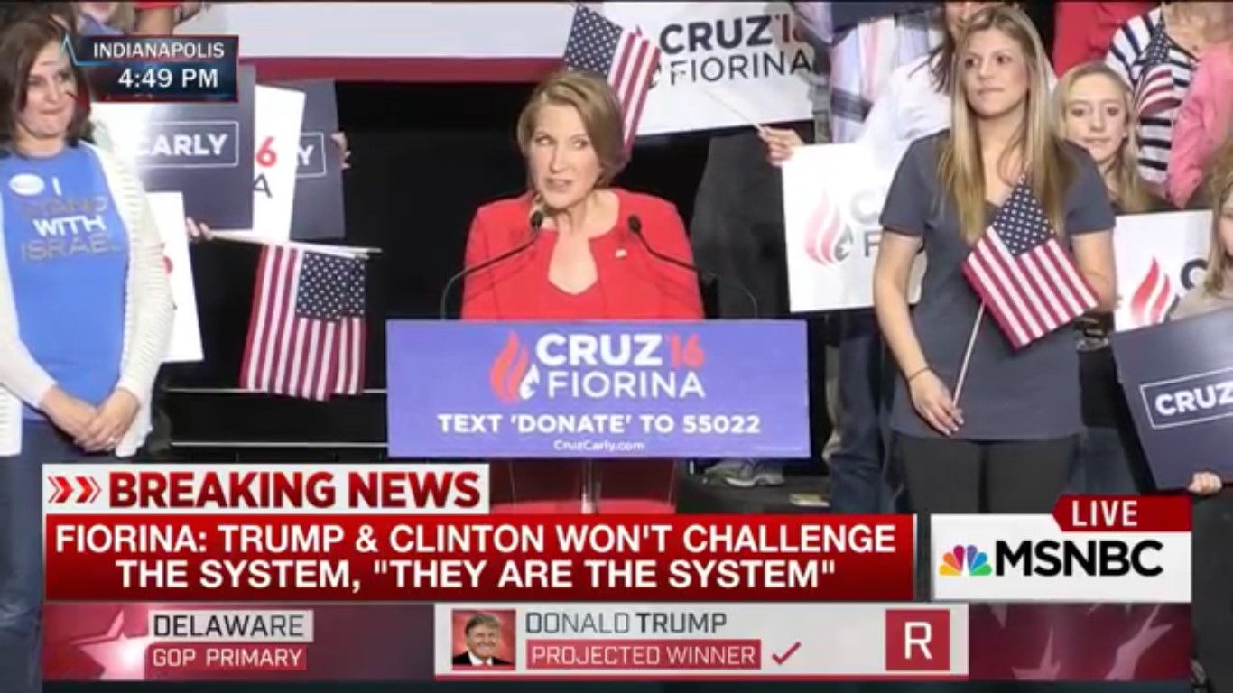 Cruz Taps Carly Fiorina As Running Mate (And Lady Who Sings Creepy Songs In Horror Films)