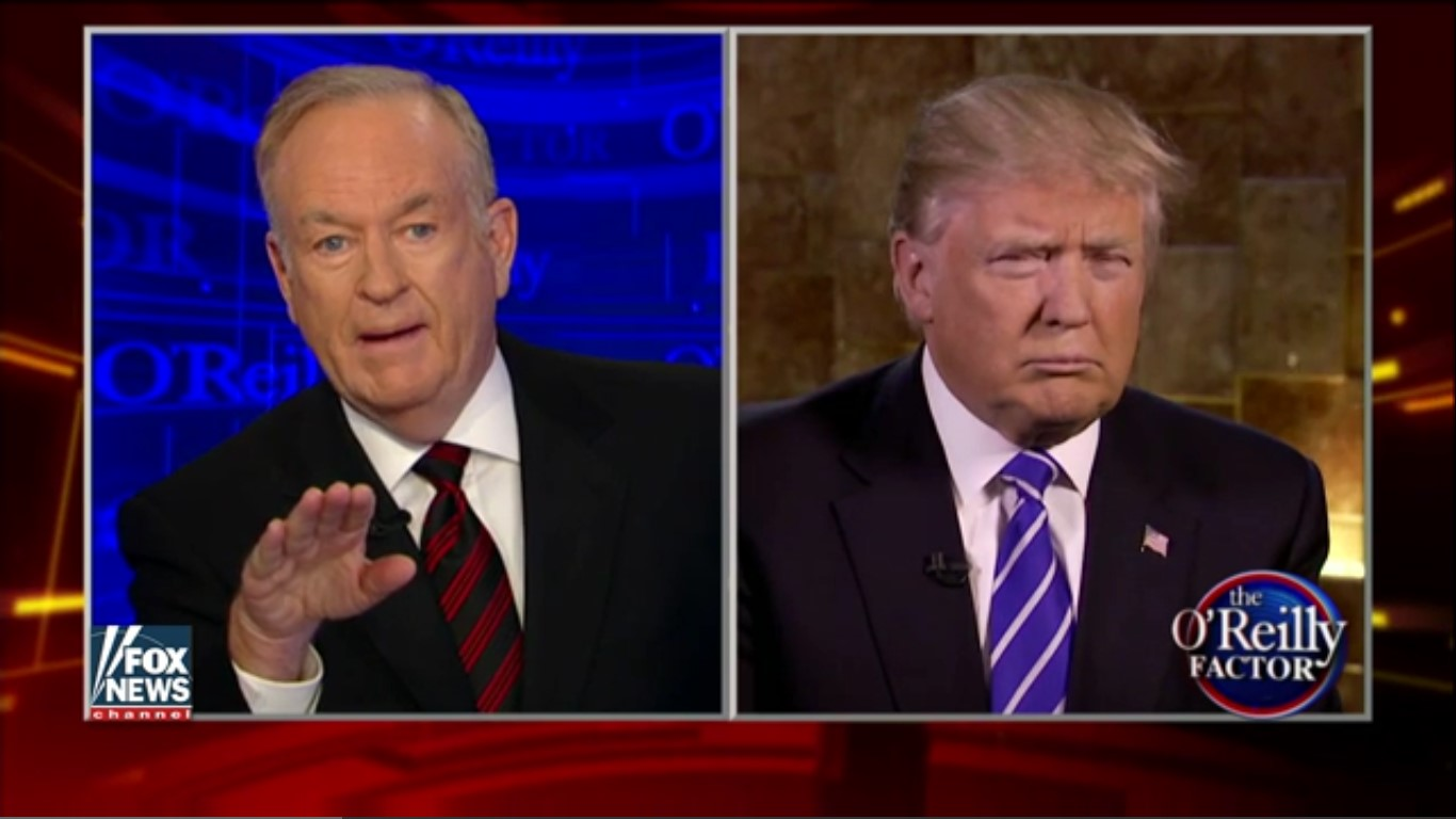 """O'Reilly Lets Trump Know That Blacks Are """"Ill-Educated And Have Tattoos On Their Foreheads"""""""