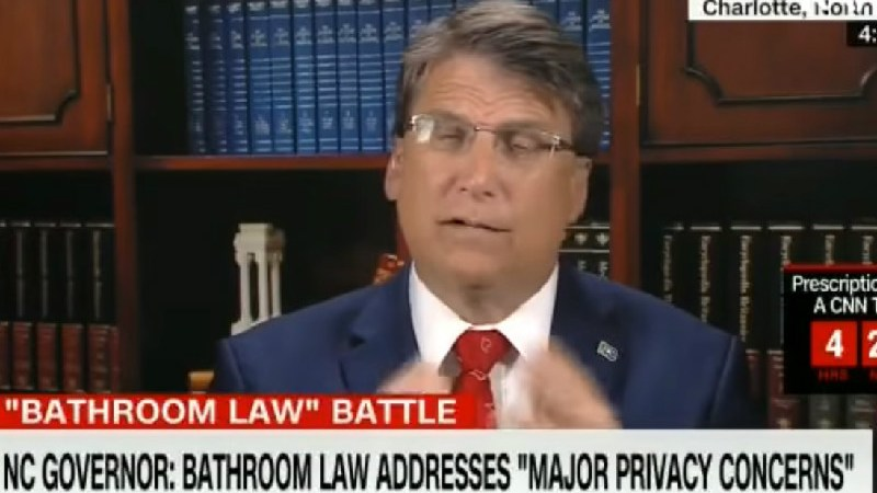 NC Gov. Pat McCrory: Scrap The Civil Rights Act And Bring Back Segregated Bathrooms
