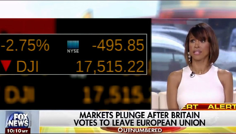 As Dow Plummets And Markets Collapse, Fox News Celebrates Brexit Vote