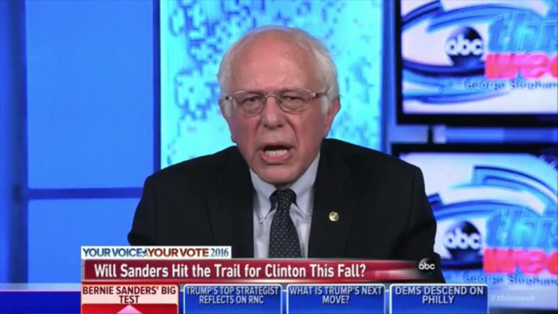 Sanders Calls On DWS To Resign, Urges Supporters To Help Hillary Defeat Trump