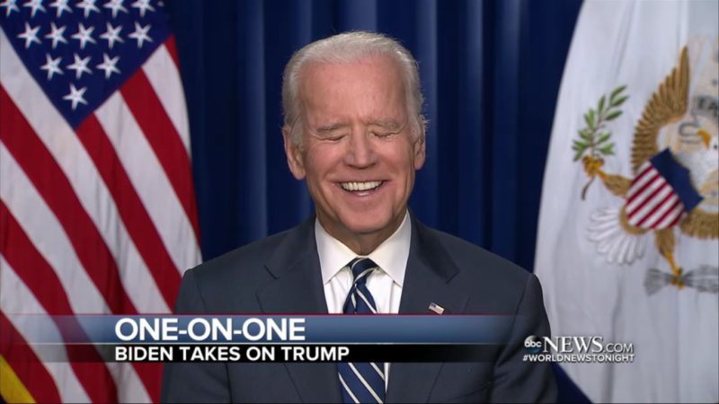 """Joe Biden Literally LOLs At Trump Declaring Himself The """"Law And Order Candidate"""""""