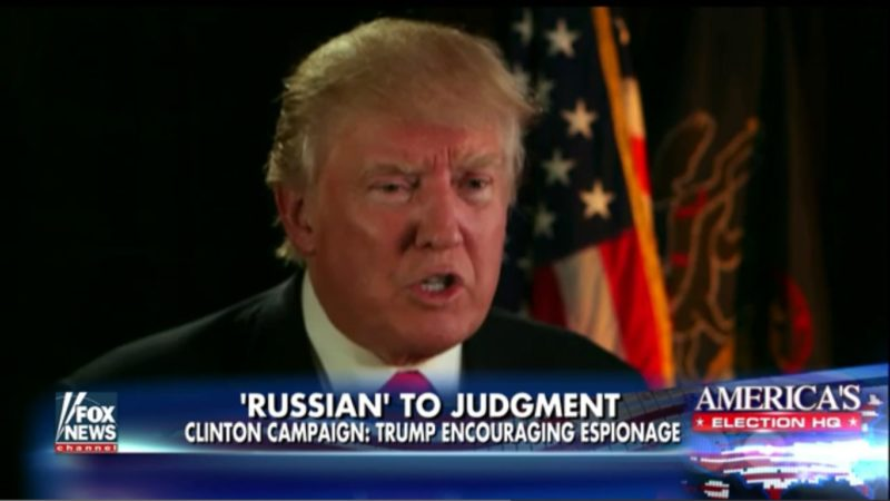 Trump: I'm Being Sarcastic About Russian Hacking. Also, Putin's Better Than Obama