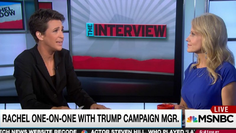 Maddow Pats Herself On The Back For Going Easy On Kellyanne Conway During Interview
