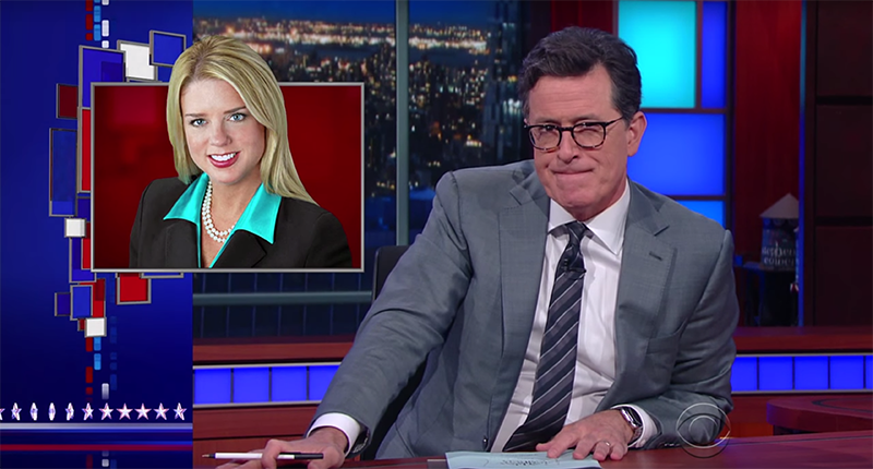 Stephen Colbert Wonders Why Trump Supports 'Dog Stealer' Pam Bondi