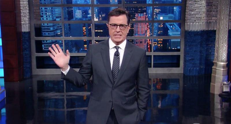 Stephen Colbert: Donald Trump's Head Is Too 'Full Of Ethnic Slurs' To Train For Debates
