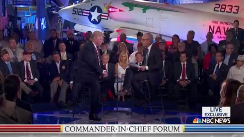 Matt Lauer Lets Trump Blatantly Lie About Iraq And Libya Because He's The Worst