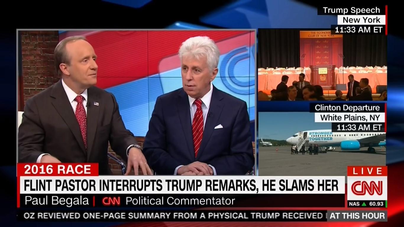 """He Mewed Like A Kitten"": CNN Commentator Mocks Trump For Cowering At Flint Church"