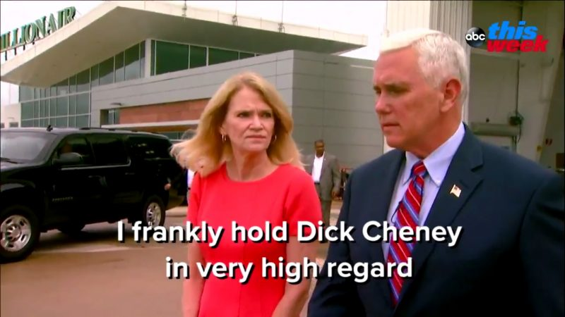 """Mike Pence On His Role Model For VP: """"I Frankly Hold Dick Cheney In Very High Regard"""""""