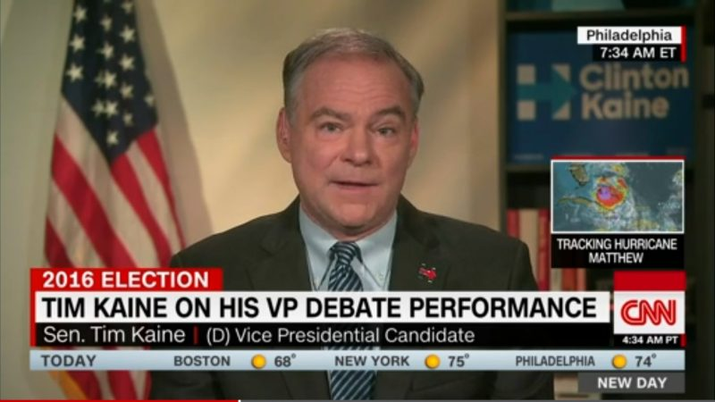 "Tim Kaine: It's In Trump's ""Head A Little Bit"" That Mike Pence ""Threw Him Under The Bus"""