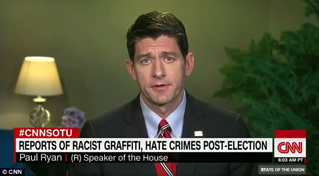 Paul Ryan Says There Won't Be A Deportation Force, Despite Trump's Claims