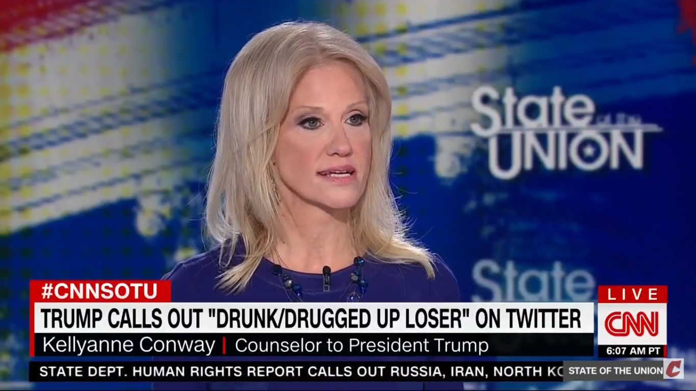 Kellyanne Conway Links Trump's 'Drugged Up Loser' Tweet To POTUS Fighting The Opioid Crisis