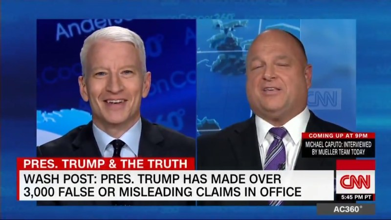 'Wow!' Anderson Cooper Left Flabbergasted By Ex-Trump Adviser Claiming He's Never Heard Trump Lie