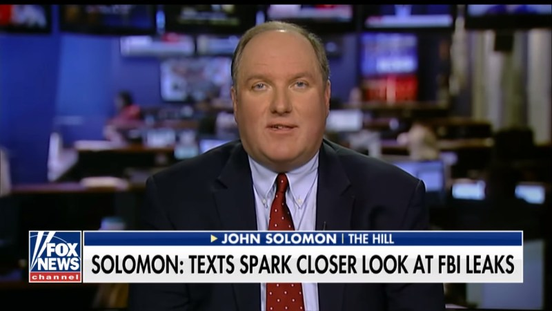 The Hill's John Solomon, One Of Hannity's Go-To Russia Reporters, Now An Opinion Writer