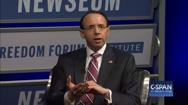Rosenstein Reacts To GOP Impeachment Effort Against Him: DOJ 'Is Not Going To Be Extorted'