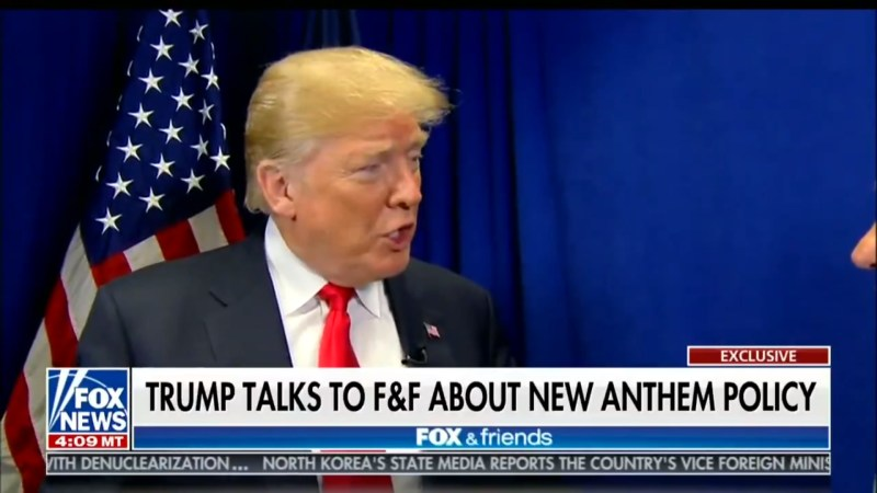 Trump On NFL Players Kneeling During Anthem: 'Maybe They Shouldn't Be In The Country'