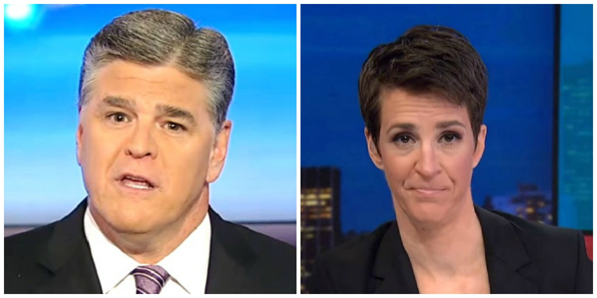 Hannity and Maddow Finish One-Two in Wednesday's Ratings, Tucker Takes Third Place