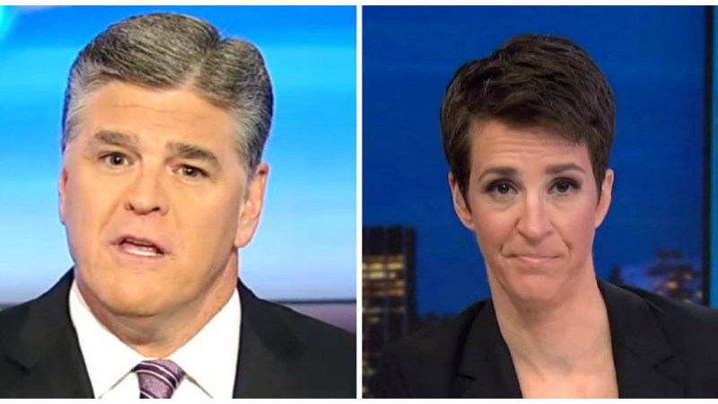 Hannity Dominates Cable News Ratings Wednesday, Maddow Finishes in Fourth Place
